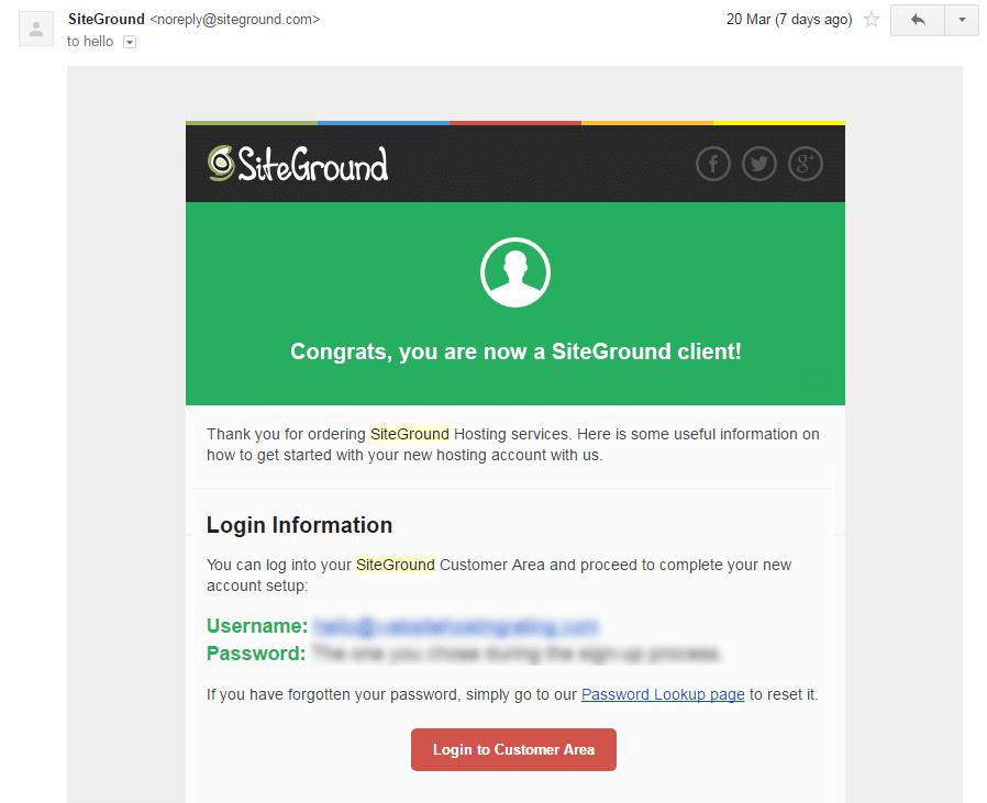siteground login email